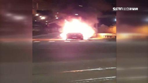 租賃車行駛突熄火 嘗試發動卻火燒車