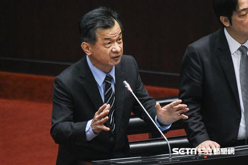 法務部長邱太三出席立法院質詢。 圖/記者林敬旻攝