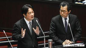 行政院長賴清德、環保署長李應元出席立法院質詢。 圖/記者林敬旻攝