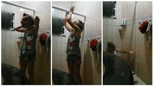 巴西女網友「Bárbara Alves」在浴室用衛生紙上吊(圖/翻攝自Bárbara Alves臉書)
