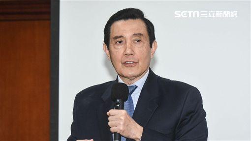 前總統馬英九演講「兩岸詐欺犯的共同管轄問題」。 (圖/記者林敬旻攝)