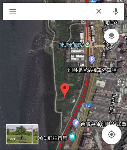 台北,竹圍,香港,男友,陳佳同,潘曉穎,殺人,棄屍,捷運,行李箱,擷取自GOOGLE地圖
