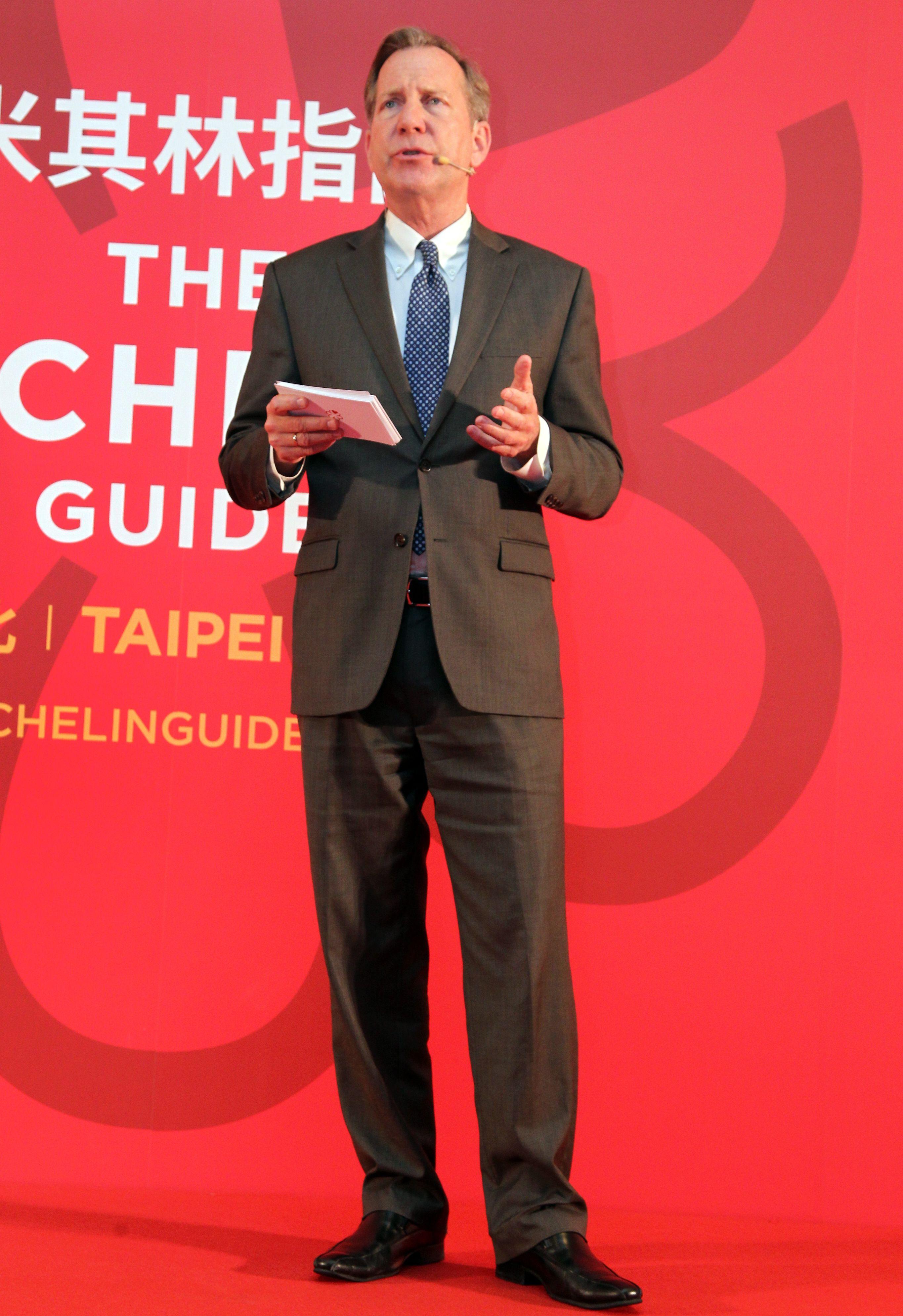 米其林指南國際總監米高艾利斯先生。(記者邱榮吉/攝影)
