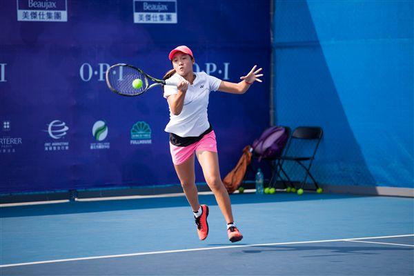 ▲16歲組頭號種子王兆宜渴望獲得WTA未來之星參賽資格。(圖/海碩整合行銷提供)