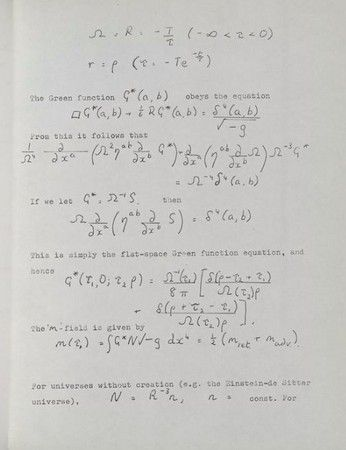 霍金,Stephen Hawking,論文,劍橋大學,下載,Properties of Expanding Universes 圖/翻攝自劍橋大學官網