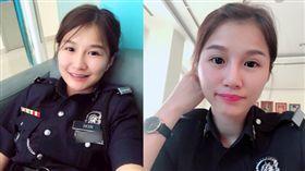馬來西亞正妹女警撿到手機被誤當賊辱罵,讓她氣到直接把手機丟掉,要失主自己慢慢去找。(圖/翻攝臉書)