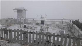 玉山,下雪,降雪 圖/氣象局提供