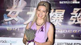 Lara梁心頤出席女力爆發演唱會。(記者邱榮吉/攝影)