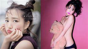 AKB48,加藤玲奈,寫真集。(合成圖/翻攝自推特)