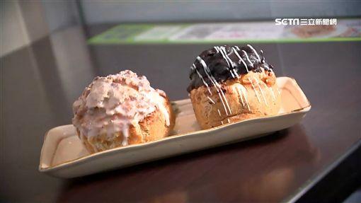 美食,甜點,脆皮泡芙,草莓蛋糕,草莓歐蕾,蛋糕,泡芙