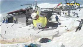 怵目驚心!登山纜車控制盤失控飛甩滑雪客