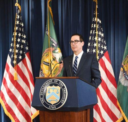 美國財政部長梅努欽。(圖/翻攝Twitter)