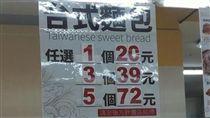 麵包,促銷,便宜,省錢,大潤發,文字遊戲,海報(圖/翻攝自爆怨公社)