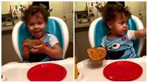 美國阿拉巴馬州瑪雅(Maya)在廚房吃早餐疑似看到鬼(圖/翻攝自推特)