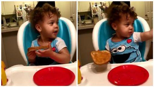 美國阿拉巴馬州瑪雅(Maya)在廚房吃早飯疑似看到鬼(圖/翻攝自推特)