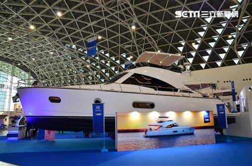 本屆遊艇展示內展出28艘各型遊艇。(圖/鍾釗榛攝影)