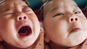 戲精,爆笑公社,嬰兒,哭鬧,偷瞄,眼神,裝哭,技能,假哭,演戲 圖/翻攝自YouTube https://goo.gl/tL5kCQ