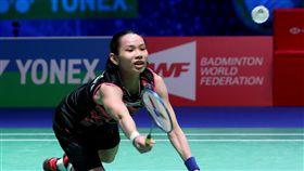 戴資穎精彩救球。(圖/Badminton photo提供)