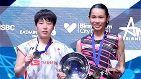 戴資穎與山口茜。(圖/Badminton photo提供)