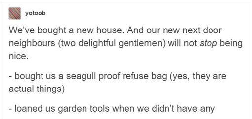 他分享好鄰居暖心故事卻讓網友好心慌(圖/yotoob.tumblr)