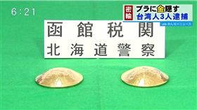 走私,黃金,日本,台灣,胸墊,胸罩,北海道,函館 圖/翻攝自UHB