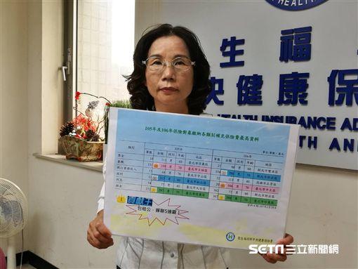 健保署科長李春娥說明106年健保補充保險費收繳金額情形。(圖/記者楊晴雯攝)