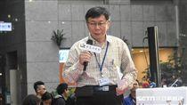 台北市長柯文哲出席「敬老啟程幸福轉乘」記者會。 圖/記者林敬旻攝