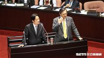 行政院長賴清德、陸委會主委陳明通出席立法院院會總質詢。 圖/記者林敬旻攝