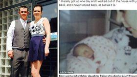 英國一名35歲模特兒哈欽森(Kerry Hutchinson)至今流產達16次,6個寶寶出生後夭折,其中她親手埋葬3位嬰兒,一共歷經失去22個小孩的折磨。她的醫師稱她的身體很健康,「只是不幸運而已」,但哈欽森無法將「不幸」當作解釋,決定要找出原因。(圖/翻攝自每日郵報)