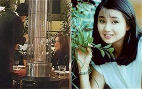 網友香港偶遇53歲張曼玉,戴老花眼鏡幫粉絲簽名。圖/翻攝自微博