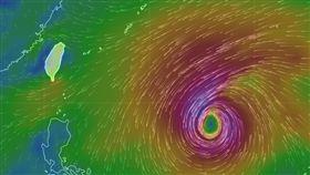 颱風預測模擬圖/中央氣象局