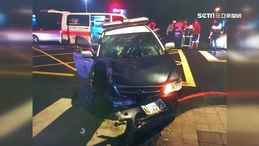 警追改裝機車 嫌竟急煞害警撞車 2警輕傷