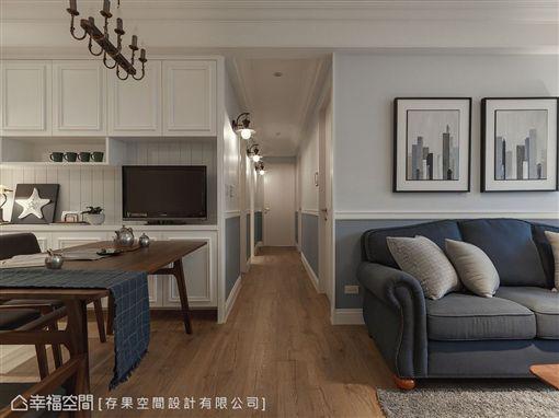 名家專用/幸福空間/灰藍色的慵懶生活 把美式電影場景搬回家!(勿用)