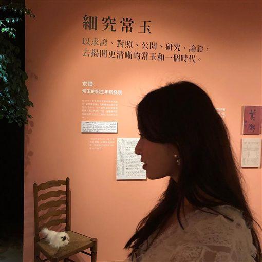 ▲林志玲今天與張小燕、蔡康永等人一起去看常玉展。(圖/翻攝自IG)