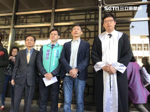 台大校長遴選,民進黨台北市議員參選人詹晉鑒、邱一峰、蕭亞譚、蘇緯政,到北檢控告管中閔。