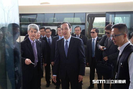 朱立倫參訪台積電南京廠與青創座談 新北市府提供