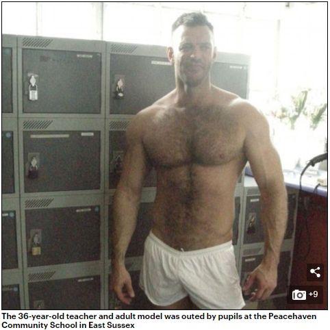 學生上網GOOGLE老師名字,意外發現他竟在兼差當男優。(圖/翻攝Daily Mail)