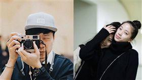 林俊傑幫歐陽娜娜、歐陽妮妮拍照,攝影,鄧紫棋演唱會後台。(合成圖/翻攝自林俊傑臉書)