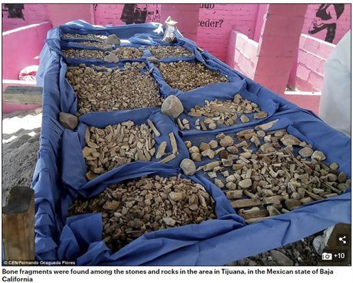 墨西哥下加州一處空地,地下安葬上百具經強酸消融屍首。(圖/翻攝Daily Mail)