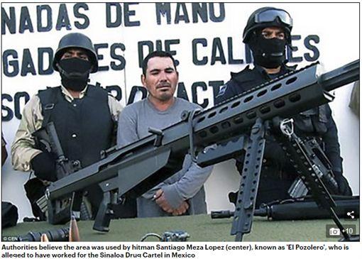 墨西哥下加州一處空位,地下埋葬上百具經強酸消融屍首。(圖/翻攝Daily Mail)