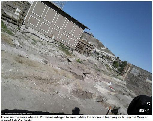 墨西哥下加州一處曠地,地下安葬上百具經強酸溶解屍首。(圖/翻攝Daily Mail)