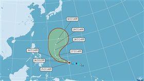超罕見!第3號颱風「鯉魚」生成 沿海注意長浪發生 圖/翻攝自中央氣象局