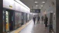 南韓,火災,火警,地鐵(圖/翻攝自YouTube)