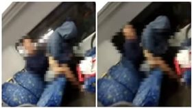 澳洲兩名男女在火車車廂內上演活春宮(圖/翻攝自YouTube)