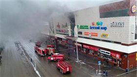 西伯利亞購物中心大火 圖/翻攝自CNN