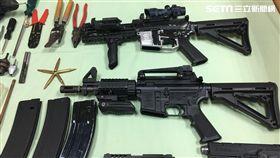 嘉義,民雄,槍枝,改造槍械,兵工廠,M4突擊步槍(圖/翻攝畫面)