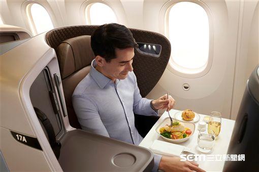 新加坡航空,新航,波音,787-10,商務艙。(圖/新航提供)