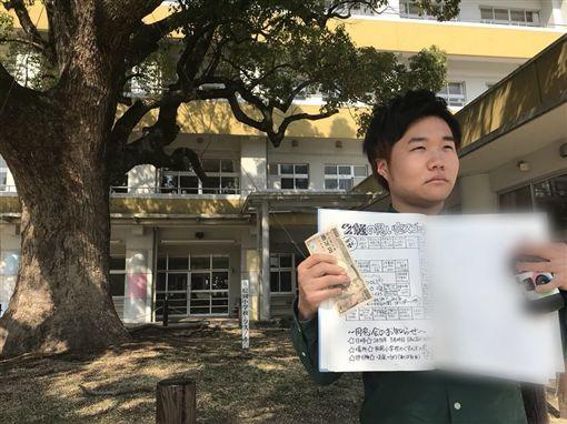 西平在推特上說,他回到大分市參加同學會,卻只有他一人到場。(圖片擷取自西平善二郎推特)