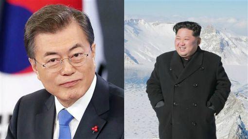 金正恩4月27日會面文在寅 北韓領導人首度踏上南韓領土合成圖/翻攝自文在寅IG、勞動新聞網