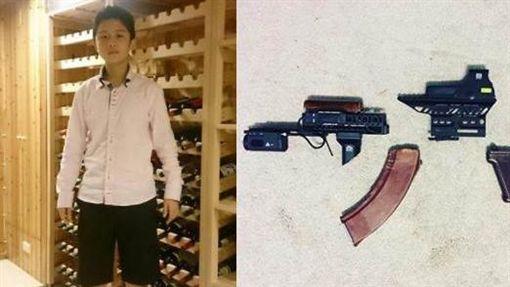 孫安佐組裝AK-47/臉書、IG